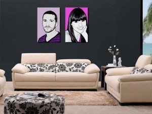 decoración retratos estilo black&white 1, retratospop.com