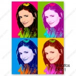 retrato pop art warhol personalizado
